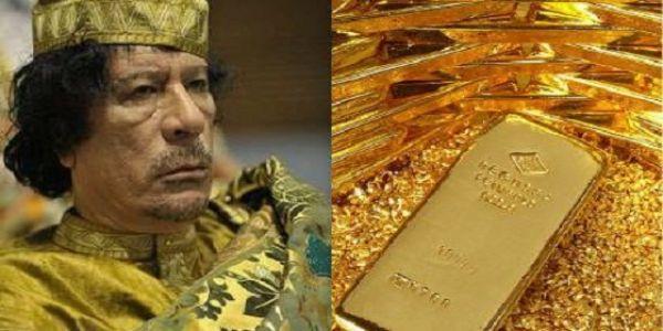"""لأول مرة. """"التايمز"""" كشفات فين مخبي معمر القذافي فلوس صحيحة"""