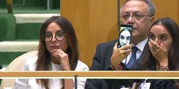 بالفيديو. بنت رئيس دولة دارت لباباها الشوهة فالامم المتحدة