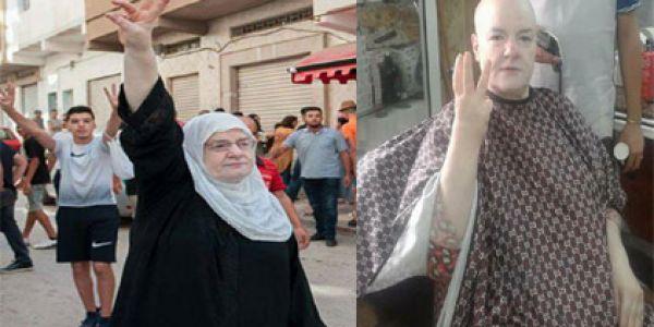 اشهر ناشطات الحراك تحلق شعر رأسها تضامنا مع مرضى السرطان بالريف