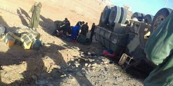 مستجدات حادثة سير السمارة اللي تجرح فيها 17 عسكري
