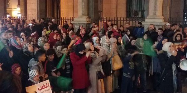 بالصور ….الشعب خرج في تطوان لدعم الأقصى والتنديد بالقرار الأمريكي