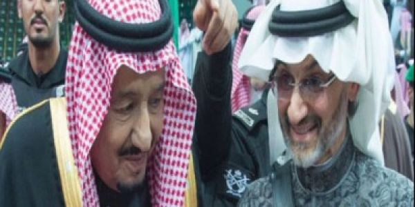 بالفيديو. بن طلال بان اخيرا مع الملك سلمان