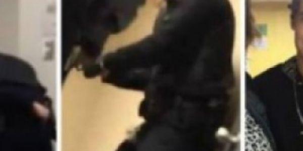 بالفيديو. بوليسي ضرب شاب بالقرطاس  فوسط محكمة بكندا وها علاش