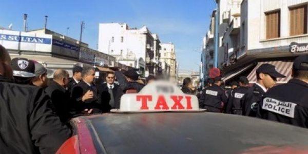 مسؤول أمني طيح طاكسي مزور فمراكش غير بالحيلة