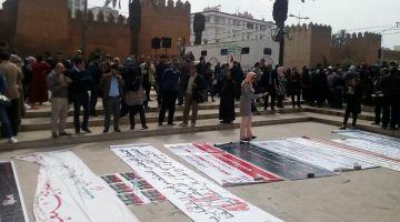 بالصور.. المتصرفون حيحو على الحكومة أمام البرلمان