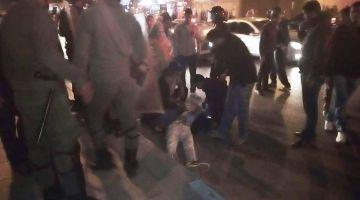 """بالصور. القوات العمومية ديال العيون تدخلات ووقفات بالقوة الوقفة التنديدية بمقتل الطالب """"عبد الرحيم بدري"""""""