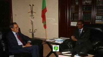 حميد شبار تلاقى وزير العدل الموريتاني