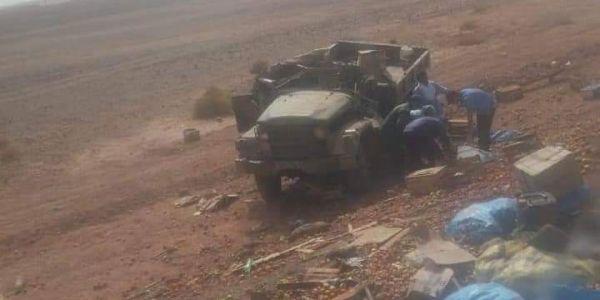 مستجدات بالصور. ها الحصيلة النهائية لانقلاب شاحنة عسكرية بين آسا والزاك