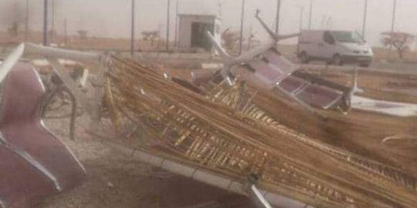 الدعاوي.. قبل مايدشن عاصفة جوية ضربات المعبر البري بين الجزائر وموريتانيا وخرباتو (صورة)