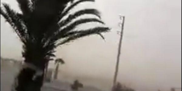 بالفيديو. عواصف رملية ببوجدور جمدات كلشي