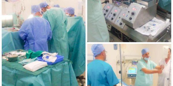 هادي سابقة زوينة.. فريق طبي دار أول عملية جراحية بدلو فيها صمامات القلب (+صور)