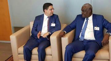 بوريطة داير حالة فنيويورك وتلاقى رئيس مفوضية الإتحاد الإفريقي موسى فقي