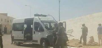 طونوبيلة ديال القوات المساعدة تابعة موكب وزير النقل والتجهيز دارت كسيدة