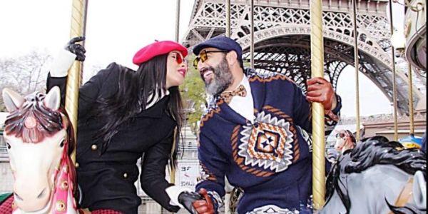 المغاربة بداو كيزعمو فالتعبير على الحب.. فؤاد قبيبو كيبوس فالمادام بوش آبوش – صور