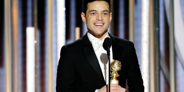 "رامي مالك أول مصري ياخد جائزة ""غولدن غلوب"" بعدما مثل دور فريدي ميركوري مول فرقة ""كوين"""