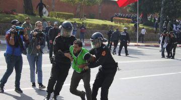 مديرية الأمن: هاعلاش تدخلنا لتفريق مسيرة الأستاذة المتعاقدين