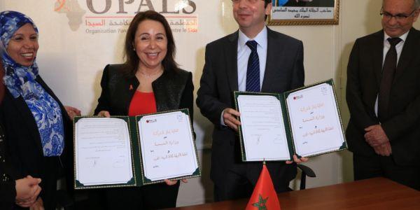 الوزير الدكالي وقع اتفاقية مع المنظمة الإفريقية لمكافحة السيدا