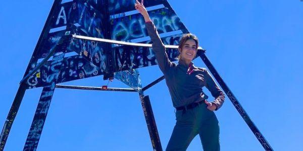 كريمة غيث طلعات لأعلى قمة في شمال افريقيا في عيد ميلادها 27