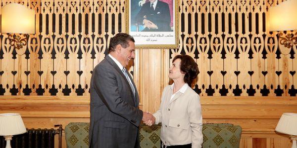 أخنوش استقبل مرشحة فرنسا لـFAO كاترين جيزلان.. وهدرو على العلاقات المغربية الفرنسية بالمجال الفلاحي