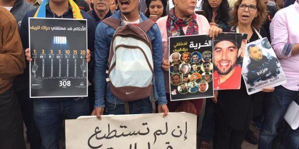 معتقلو الريف دعاو للإحتجاج فمسيرة وطنية بالرباط
