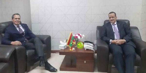 من بعد جنيف وجلسات مجلس الأمن. حميد شبار تلاقى وزير خارجية موريتانيا