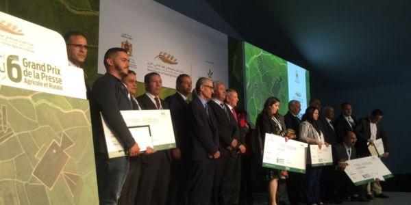 تتويج الفائزين بالنسخة السادسة للجائزة الكبرى للصحافة في المجال الفلاحي والقروي