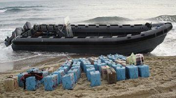 البحرية الملكية وقفات قارب فسواحل الداخلة مشارجي حشيش