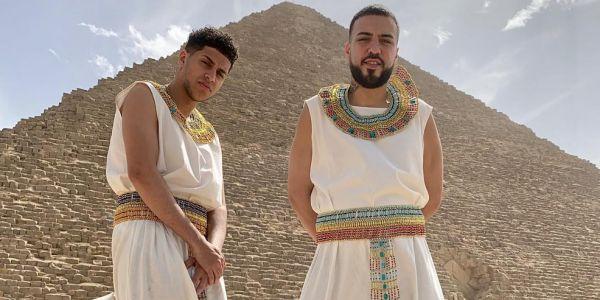 فرنش مونتانا اتحول لفرعون.. وغنى مع تامر حسني – صور