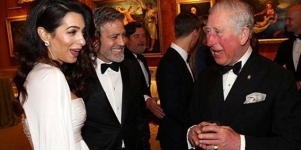 أمل وجورج كلوني في قصر باكنگهام – تصاور