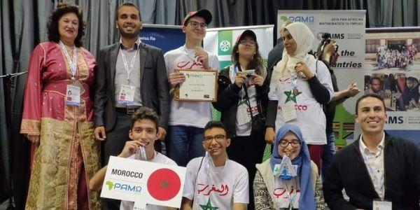 التلاميذ المغاربة جاو اللولين قاريا فالأولمبياد الإفريقية للرياضيات بجنوب إفريقيا