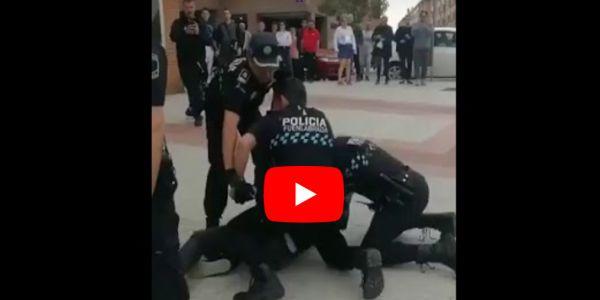 قضية الاعتداء على مغربي من طرف ربعة ديال البوليس صبليون كبرات والتحقيق القضائي معاهم بدا – فيديو