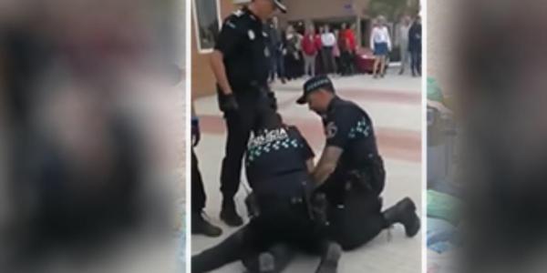 فيديو تعنيف مهاجر مغربي شراها لبوليس الصبليون