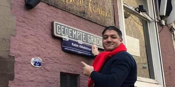 نشطاء كيعلقو أسماء قيادات حراك الريف على الشوارع الهولندية – صور