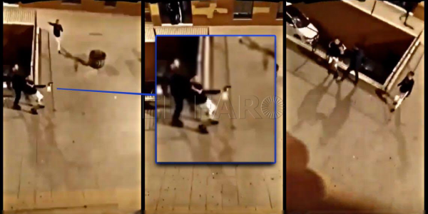 بالفيديو. مضاربة على ماتش كرة وبلاصة باركينگ تقلبات قرطاس بين جوج مغاربة فسبتة