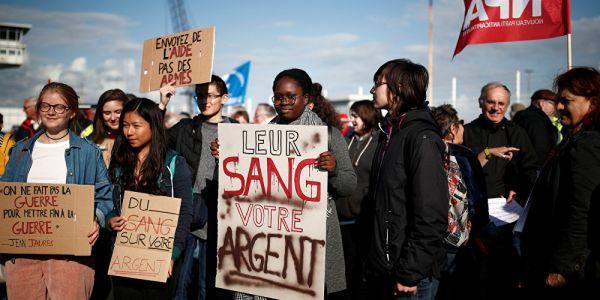مظاهرة في فرنسا لمنع باطو من حمل السلاح لسعودية