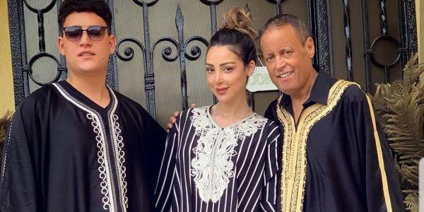 تصويرة عائلية. بسمة بوسيل بالجابادور مع باها وخوها بسباب رمضان