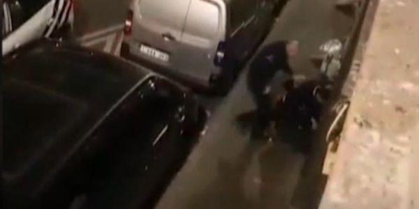 فيديو صادم من مولنبيك ف بلجيكا: شرطي ضرب مواطن معتقل