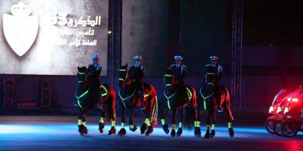 البوليسيات بينو باللي كادات على مواجهة كاع المخاطر لحماية أمن المغاربة. قدمو عروض واعرة فاحتفالات ذكرى التأسيس