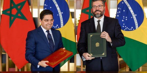 بوريطة تلاقى وزير خارجيتها.. البرازيل داعمة جهود المغرب لحل نزاع الصحرا