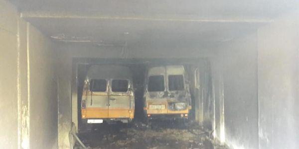العافية شعلات فمدرسة بفاس وكلات عدد من سيارات النقل المدرسي