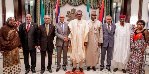 وخا كاين تقارب مع المغرب.. الرئيس النيجيري بوخاري استقبل زعيم البوليساريو -صور