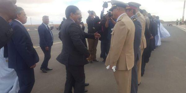 وفد موريتاني جا لطانطان وفيه وزير الثقافة الموريتاني