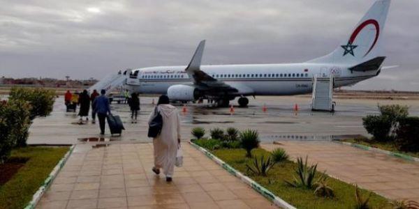 وفد رسمي غادي ايجي فانطلاقة أول رحلة جوية تربط بين العيون وگلميم