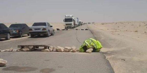 فشل عمالة أوسرد فالحوار خلى معتصمين يسدو طريق الكرگرات -صور