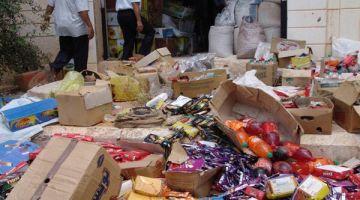 إتلاف أزيد من 972 طن من المنتجات الغذائية الفاسدة وتقديم 609 ملفا أمام القضاء