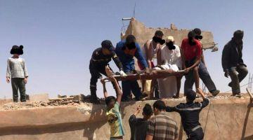 انفجار قذيفة حربية قديمة فوسط دار بطانطان -صورة