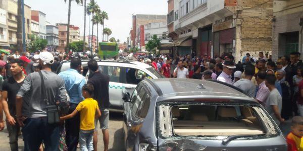 لعناد بين شيفور طوبيس وطموبيل تسبب في حادثة سير خطيرة في كازا..تسعة جرحى في وضعية خطيرة