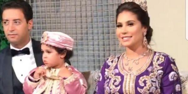 هدى سعد دارت عرسها وطهارة ولدها فنهار واحد واستقبلات ضيوفها بخارطة المغرب بالكريستال -تصاور وفيديو