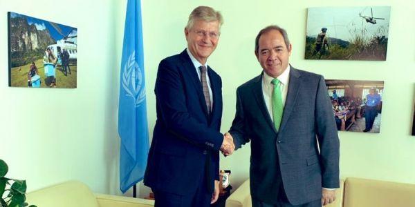 وزير خارجية الجزائر تلاقى وكيل الامين العام لعمليات حفظ السلام على ود المينورسو