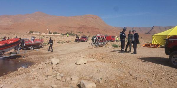 """فاجعة وادي """"درشمان"""".. ارتفاع عدد القتلى إلى 18  والقائد الجهوي للوقاية المدنية ينفي لـ""""كود"""" وفاة عنصر من فرق الإنقاذ"""
